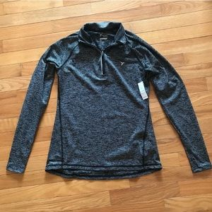 Old Navy Active striped quarter zip pullover